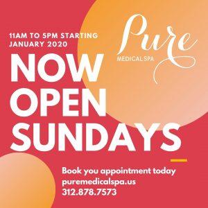 Pure Opens on Sundays Too